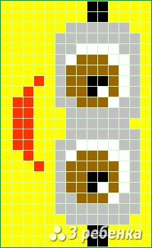 Схема фенечки прямым плетением 31329