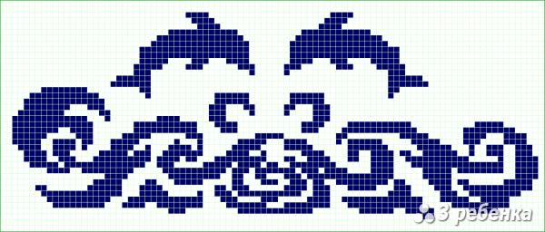 Схема фенечки прямым плетением 31446