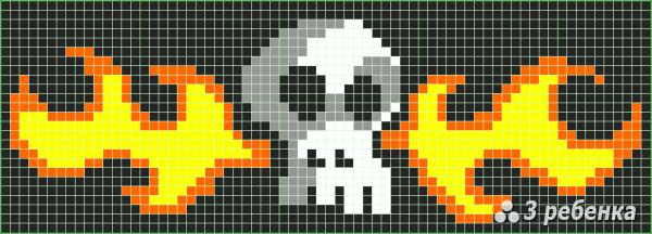 Схема фенечки прямым плетением 31567