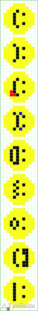 Схема фенечки прямым плетением 31366