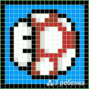 Схема фенечки прямым плетением 31428