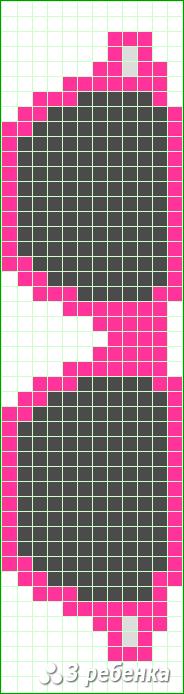 Схема фенечки прямым плетением 31417