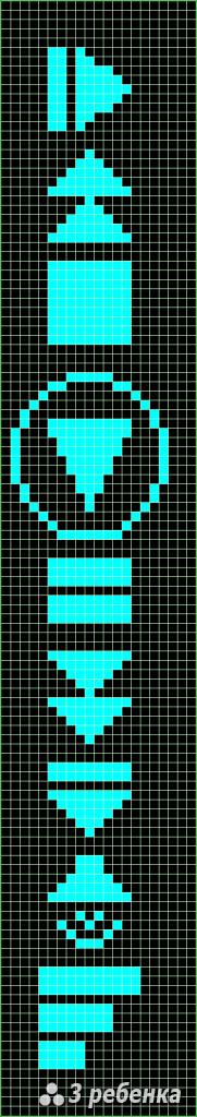 Схема фенечки прямым плетением 31341