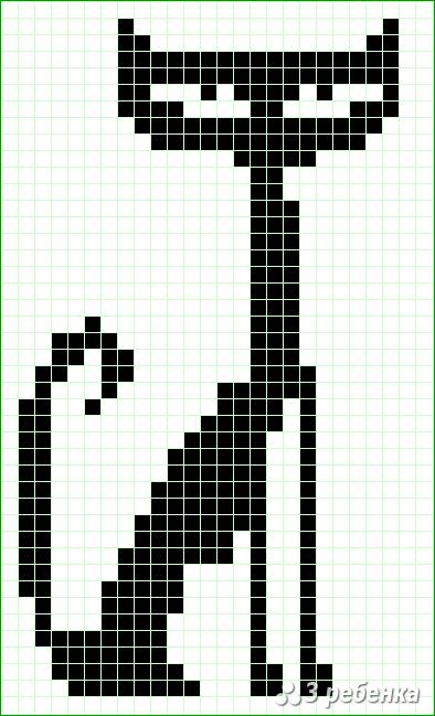 Схема фенечки прямым плетением 31456