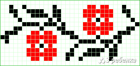 Схема фенечки прямым плетением 31381