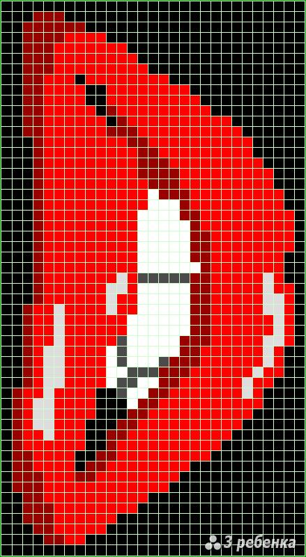 Схема фенечки прямым плетением 31473