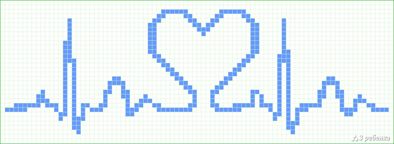 Схема фенечки прямым плетением с именем