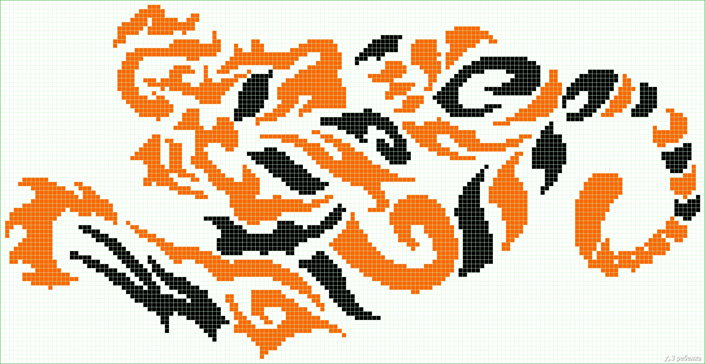 Схема фенечки прямого плетения оксимирон