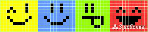 Схема фенечки прямым плетением 31659