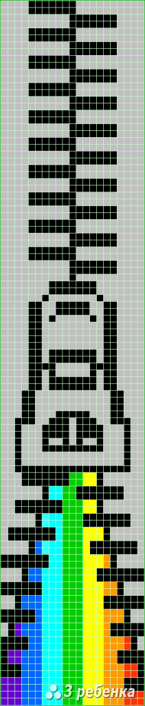 Схема фенечки прямым плетением 31593