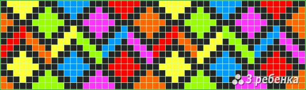 Схема фенечки прямым плетением 31451