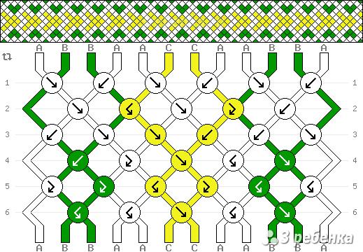 Схема фенечки 32477