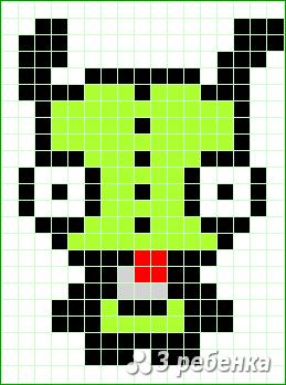 Схема фенечки прямым плетением 31756