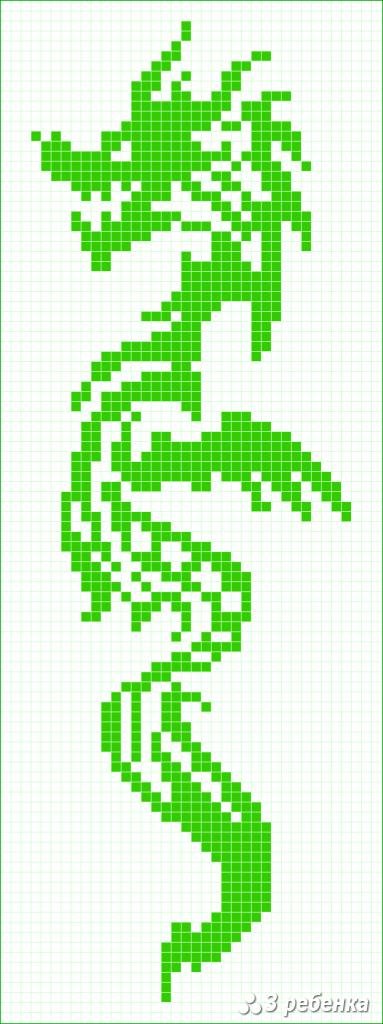 Схема фенечки прямым плетением 31768