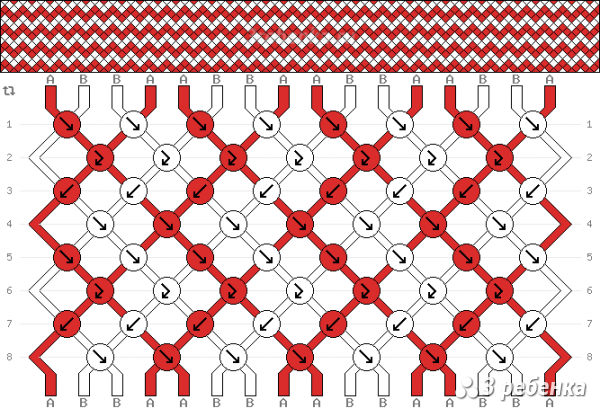 Схема фенечки 32534