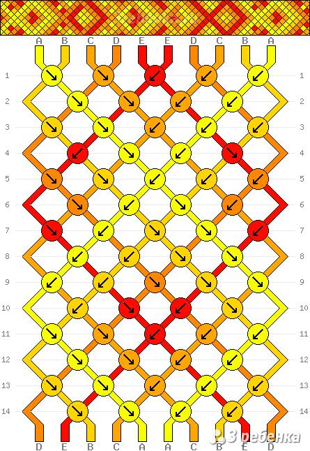 Схема фенечки 32543