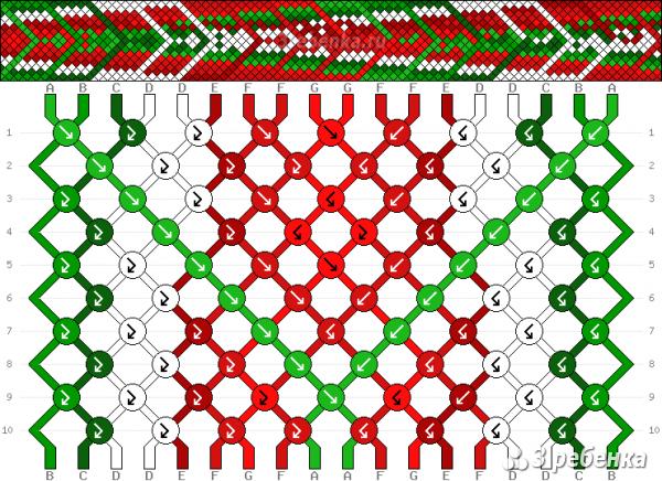 Схема фенечки 32557