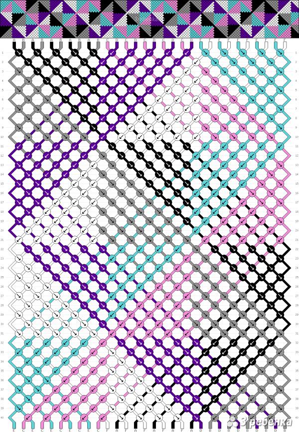 Схема фенечки 32588