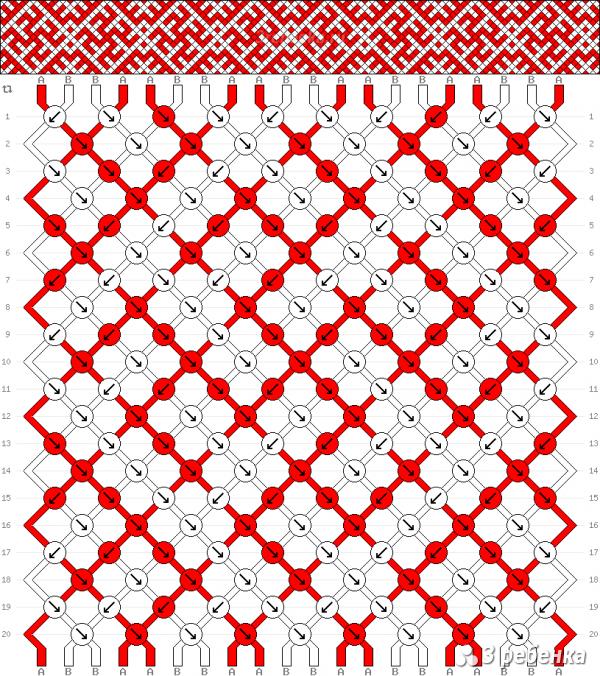 Схема фенечки 32868