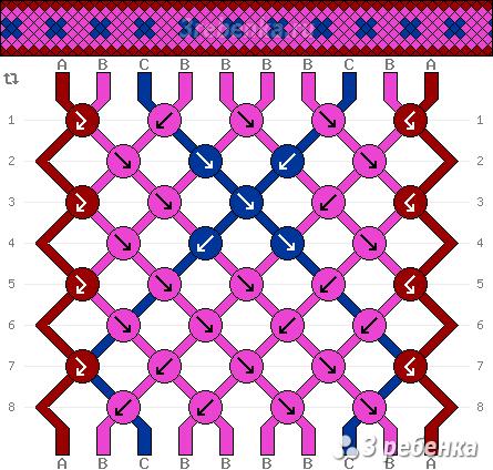 Схема фенечки 32875