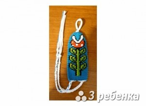 Схема фенечки прямым плетением 32647