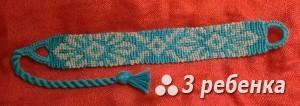Схема фенечки прямым плетением 32704