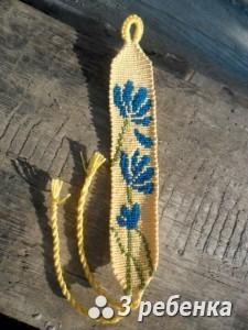 Схема фенечки прямым плетением 32760