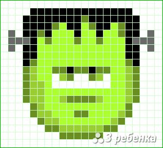Схема фенечки прямым плетением 32683