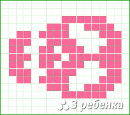 Схема фенечки прямым плетением 32817