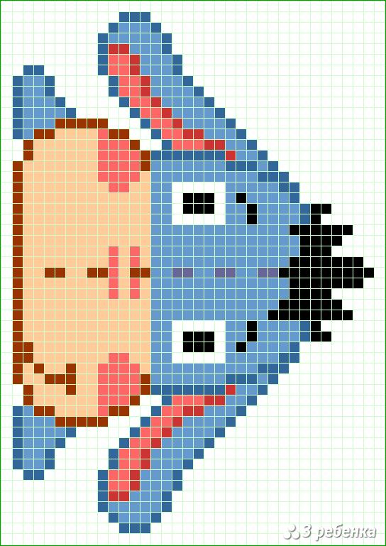 Схема фенечки прямым плетением 32850