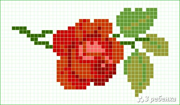 Схема фенечки прямым плетением 32711