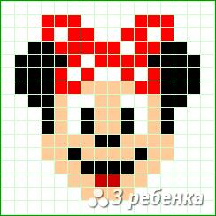 Схема фенечки прямым плетением 32828