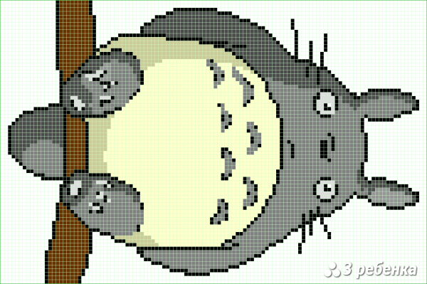 Схема фенечки прямым плетением 32716