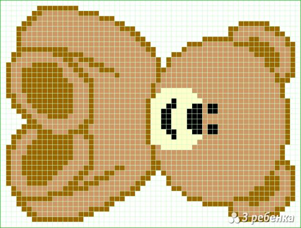Схема фенечки прямым плетением 32733