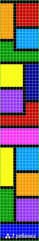 Схема фенечки прямым плетением 32840