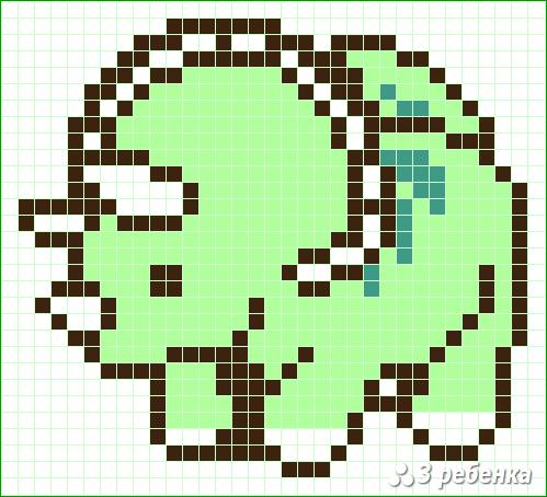 Схема фенечки прямым плетением 32860