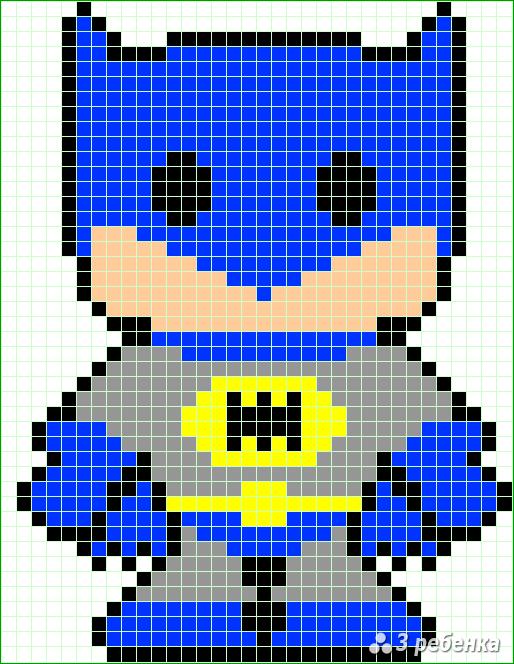 Схема фенечки прямым плетением 32694