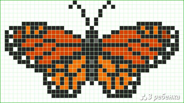 Схема фенечки прямым плетением 32637