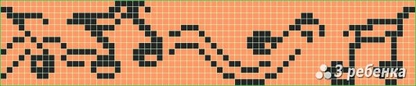 Схема фенечки прямым плетением 32833