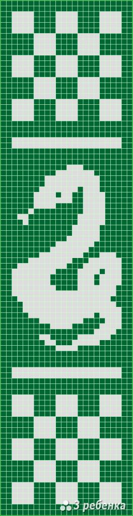 Схема фенечки прямым плетением 32768