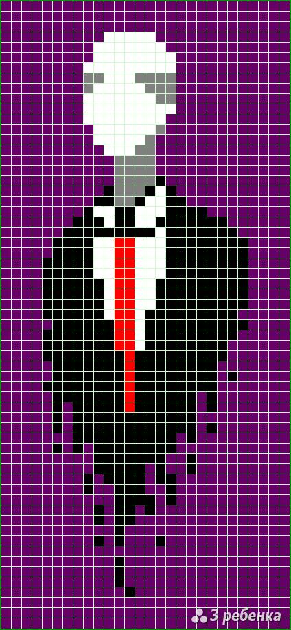 Схема фенечки прямым плетением 32670