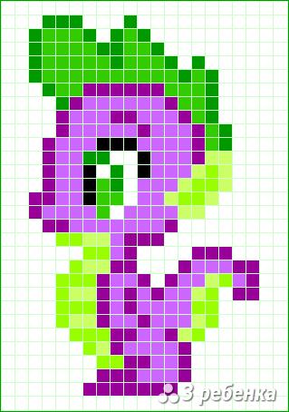 Схема фенечки прямым плетением 32721