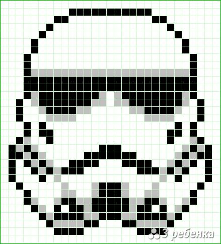 Схема фенечки прямым плетением 32689