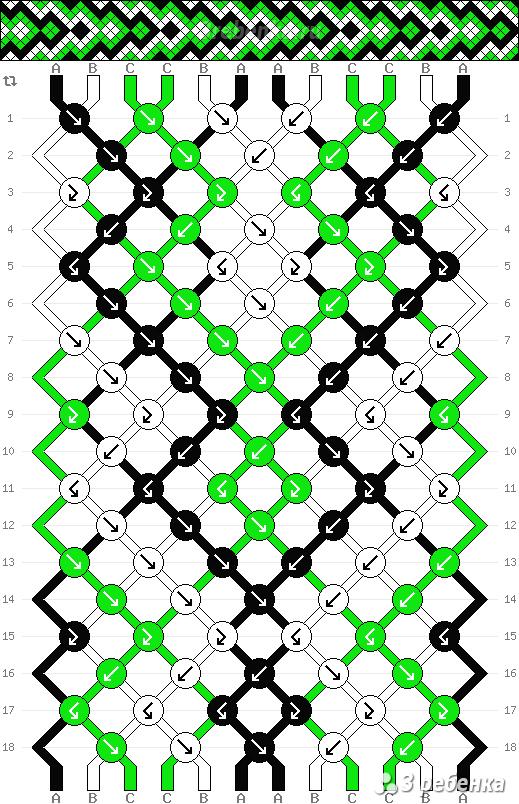 Схема фенечки 32934