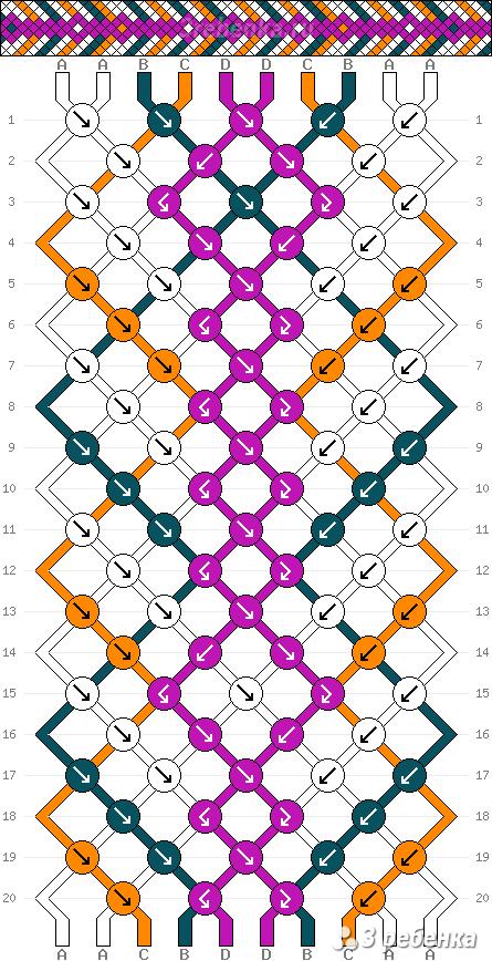 Схема фенечки 32938