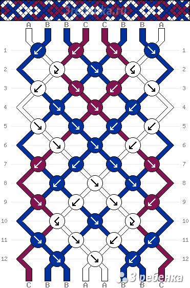 Схема фенечки 33142