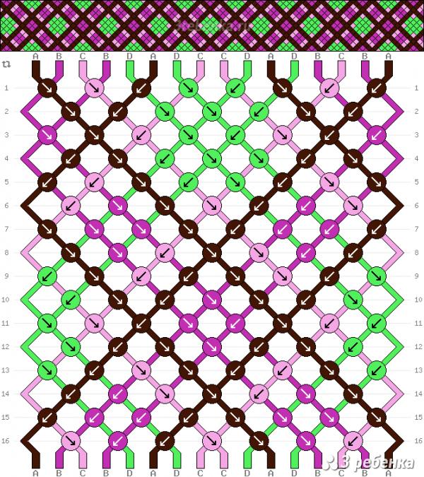 Схема фенечки 33156