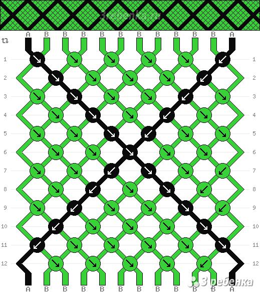 Схема фенечки 33206