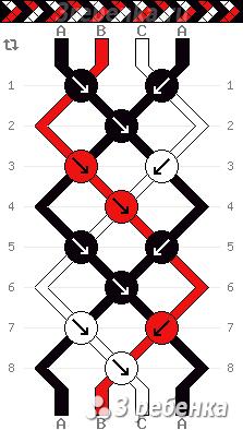 Схема фенечки 33210