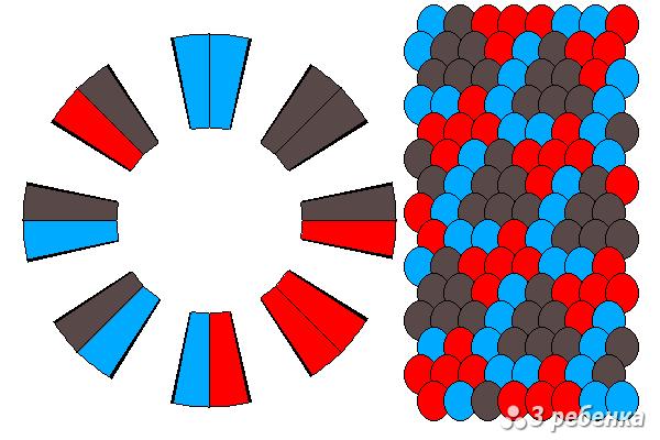 Схема фенечки кумихимо 33132